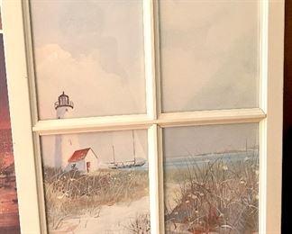 Sea side framed art