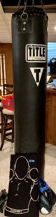 Title T punching bag & gloves