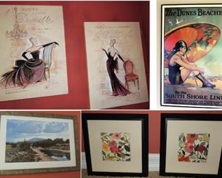 Framed art, Museum prints, vintage look advertising poster and more
