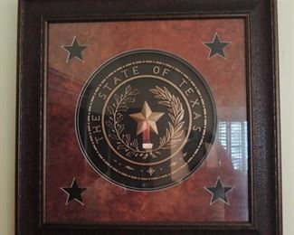 Framed State of Texas Seal