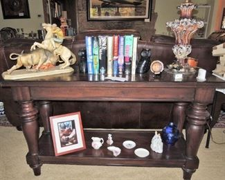 Large wood entry / sofa table