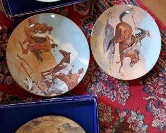 Francoma Cowboy and Indian Plates