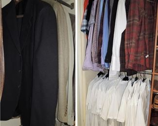 Men's full wardrobe.  L/XL and 34-36 waist.  Suits to casual.  Expensive brands