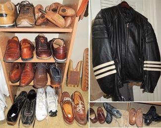 Men's shoes sizes 10-11.  Leather motorcycle jacket