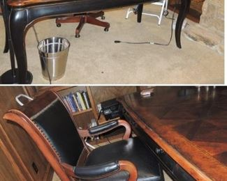 Hooker writing desk and executive chair
