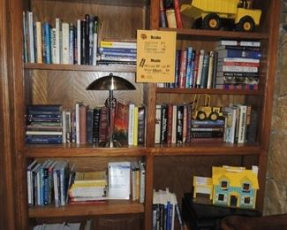 Books and vintage toys
