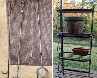 Heavy outdoor tool set.  Heavy baker's rack