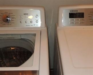 Samsung Top load washer and dryer