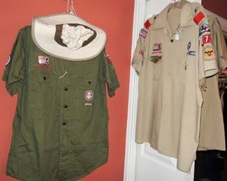 Boy scout shirts - vintage with patches