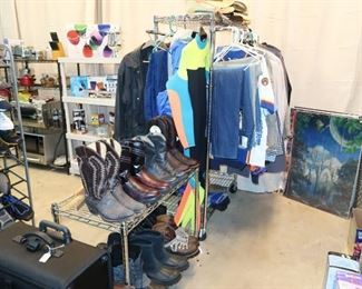 Men's boots, shoes and clothing