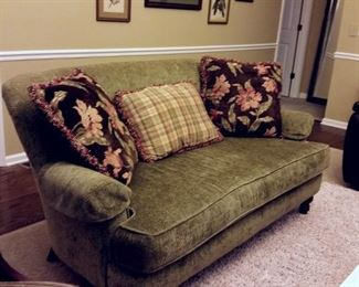 One of two matching sofas