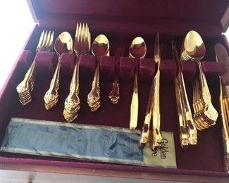 silverware 23 K gold electotroplated