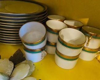 Vintage Richard Ginoi Hand painted dishes set of 12