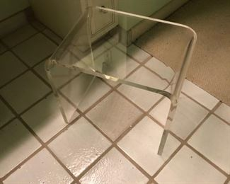 lucite seat