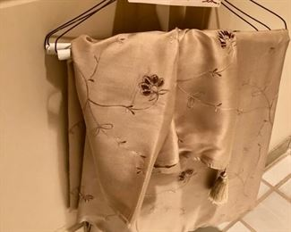 silk curtains panel