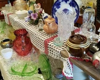 The china and glassware table