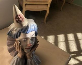 lladro sad clown
