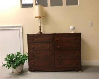 Double pine chest of drawers, plus more