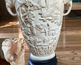 Beautiful elephant handled carved piece made in Italy