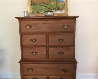 Young Hinkle Furniture Co. chest on chest