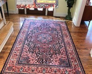 Karastan rug 100% wool pile, Pattern 'Kashan Medallion'   5.9' X 9'