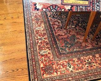Karastan rug 100% wool pile; Pattern 'Kashan Medallion'   8.6' X 12'