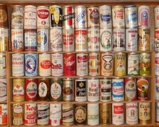 Nice beer can collection mostly pull tabs some flat tops