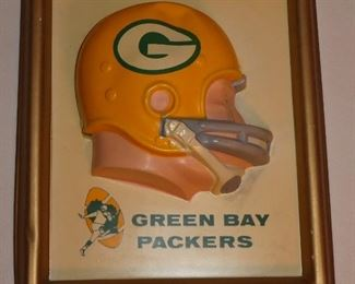 Vintage Green Bay Packers 3D helmet picture frame