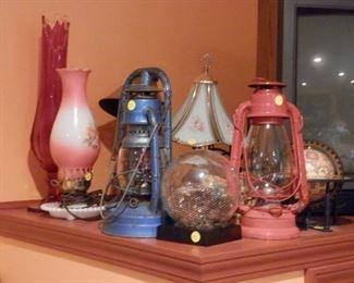 kerosene and electric lamps