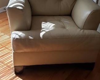 Leather cream colored Chair