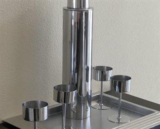 Revere decanter stemware,tray