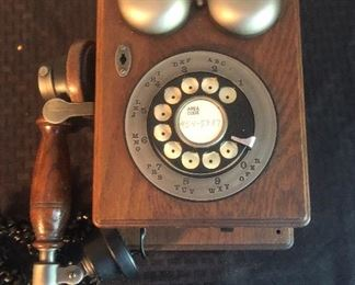 Vintage Rotary dial wall mount telephone