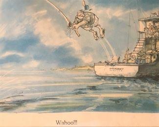 Comical Fishing print