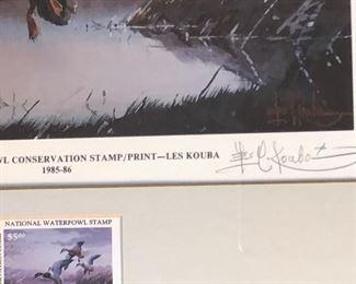 by Les Kouba w/ $5 US postage stamp