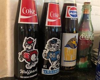 Wolfpack ~ Tarheels Coke bottles Sports Collectibles
