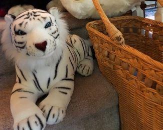 White tiger stuffed animals