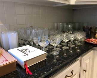 cookbooks glassware Crystal