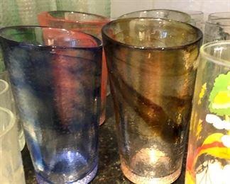 swirl art glassware