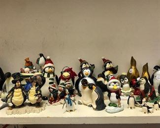 Penguin figurine collection