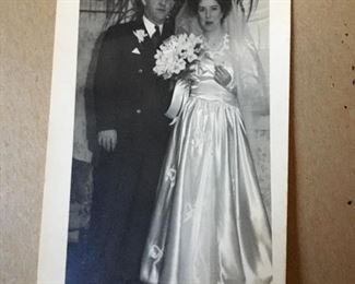 Elvie Louise and Edward  On there wedding day Picture not for sale