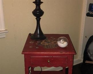 HANDPAINTED SIDE TABLE