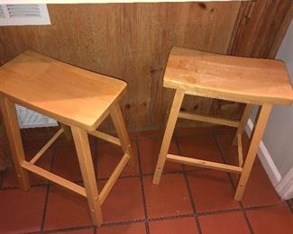 WOODEN COUNTER STOOLS