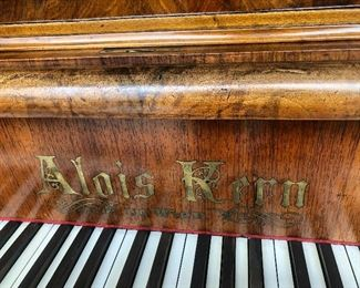 1876 Baby Grand Piano from Vienna - one of a kind!