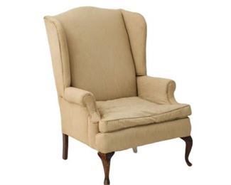 1. Taupe Wing Back Chair