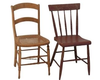 11. Two Wooden Side Chairs