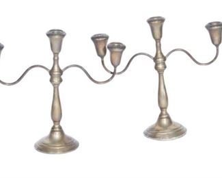 5. Pair of Sterling Silver Weighted Candelabra