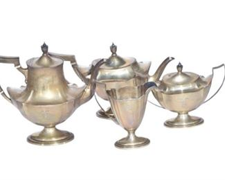 4. Gorham Sterling Silver Tea Service in the Plymouth Pattern