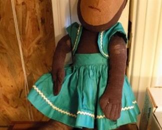 vintage monkey doll