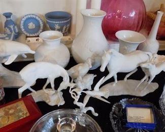 Kaiser bisque porcelain....dolphins, horses, hummingbird S0LD