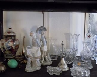 Lladros, Gorham crystal, Sevre crystal, and more